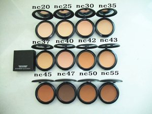 Frete grátis ePacket New Face Maquiagem de alta qualidade 15g Powder Plus! NC20.25.30.35.37.40.42.43.45.47.50.55