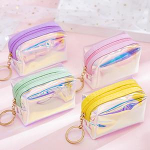 Bestselling candy color Laser Cosmetic Bag 9.4*6.3cm Waterproof Makeup Bags Women Laser Flash Diamond Leather Bags Kids Purse