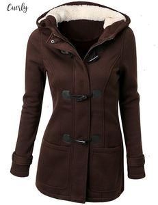 Trench Women Coat Spring Autumn Womens Overcoat Female Long Hooded Coat Zipper Horn Button Outwear Women Clothes