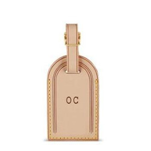 Excellent Quality kee pall luggage bag tag Classical Real Leather Personalized custom hot stamp travel bags label hot stamping initials Tags
