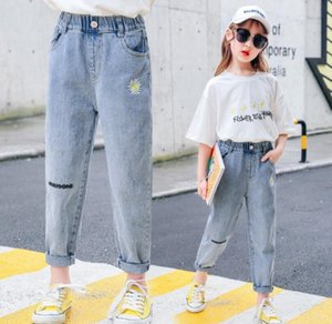 Best selling children's wear girls' spring and autumn Jeans Big children's foreign style thin pants children's pants wholesale trend size 10