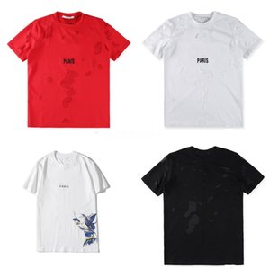 2020 Men'S Summer Colorful Birds Feather Letter Printed T Shirt Cool Tops High Quality Casual Short Sleeve Tee Plus Size 2XL 3XL 3XL #QA427