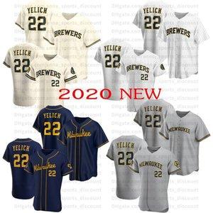 2020 yeni beyzbol üniforma Bira 22 Yelich butik forması serisi rahat ve gevşek nefes tişört