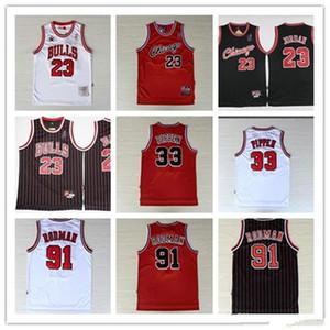 23 MJ Michael Jersey NCAA Scottie 33 Pippen Retro Dennis Rodman 91 45 MJ Koleji Erkekler Basketbol Formalar