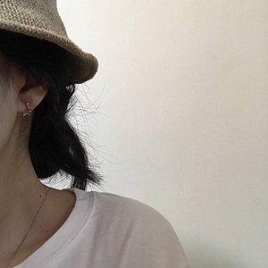 Korean Style Stud Earrings Simple Fashion Stars Moon Earrings Minimalist Ins Style Earrings Jewelry Fashion