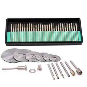 43Pcs Rotary Tools Diamond Burr Bit Saw Blades Rotary Burrs Drill Bits For Dremel Accessories Mini Drill