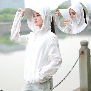 1sSUu ropa de protección solar para las mujeres 2020 nuevo verano de la bicicleta bicicleta de ciclo del mantón de conducción suelta transpirable sombrilla chal de secado rápido sunscr