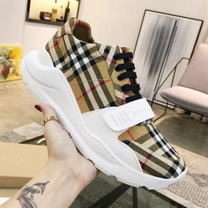 Mens Shoes Luxury Breathable Platform Stylish Vintage Check Cotton Sneakers Fashion Shoes For Men Zapatos De Hombre Suede And Neoprene Hot