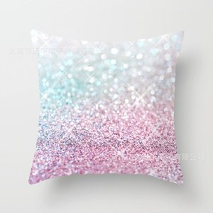 2019 New Arrival 45*45 cm Simple colorful cushion cover Fashion Gradient pillowcases Bright sequin Pillow Case are available in stock