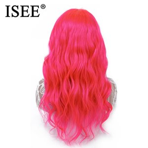 Brazilian 613 Blonde Body Wave Lace Front Wig With Baby Hair Remy Blue Lace Front Human Hair Wigs 150%Density Pink ISEE HAIR Wig