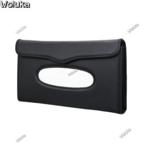 Car sun visor tissue box car hanging leather sunroof drawer box set creative napkin CD50 Q06
