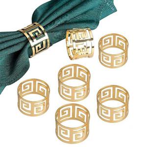 6 unids servilleta anillos aleación servilleta titular de la cena occidental toalla servilleta anillo fiesta decoración mesa accesorios hogard