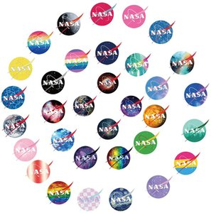 60Pcs USA Raum NASA Galaxy Wasserdichte Aufkleber-Abziehbilder wasserdicht Auto-Laptop-Aufkleber Gepäck Bottle Notebook Vinyl-Abziehbilder Großhandel