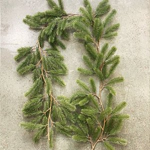 1.8m Artificial Green Garland Wreath Xmas Home Party Christmas Decoration Pine Tree Rattan Hanging Ornament For Kids T200624