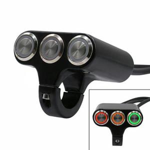 Универсальный 7/8' 22мм мотоциклов Handlebar Выключатель Horn фара опасности Brake Противотуманные фары ON / OFF Start Kill Switch со светодиодной подсветкой