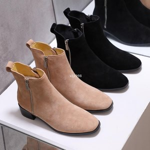 designer Women Luxury designers boots Leather ankle boot chunky heel Martin shoes Print Leather Platform Desert Boot with zipper have box