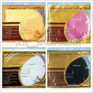 4 estilos colágeno máscara facial máscara de cristal ouro pó colágeno máscara facial folhas hidratantes anti-envelhecimento beleza beleza cuidados com a pele cuidados com a pele