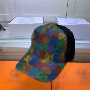 Colorido de ocio Cap GG Cartas Diseñador lienzo Caps Parejas gorra de béisbol de malla de Hip Hop Gorra