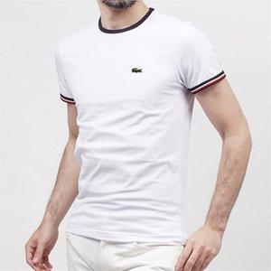 Tasarımcı Tişört Erkek T Shirt Üst Kalite Yeni Moda Tide Baskılı Erkekler Tee Gömlek Ayakkabı Erkek Tişörtü Çoklu Lacoste Tops