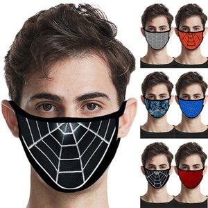 Frühling und Sommer Staub und Beatmungsmaske Neue Spinnen-Netz-Stil Cotton Thermal Mask 6 waschbare Masken T3I5974