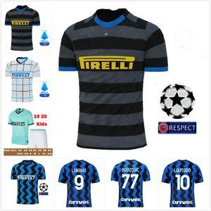 ERIKSEN Inter LAUTARO HAKIMI 20 21 Milan Soccer Jersey BARELLA DE VRIJ 2020 2021 Maillot Lukaku de Foot entre hommes enfants Kit de football shirt