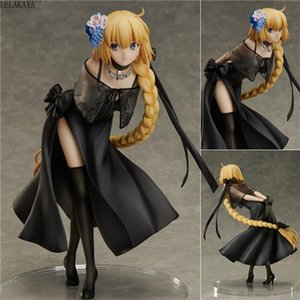 24cm Japanese Fate Grand Order Joan of Arc Saber Ghost Dress Ver Model PVC Decoration Anime Action Figure Collection Doll New