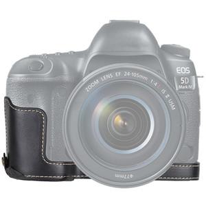 1/4 pouces fil PU appareil photo en cuir Demi-base de cas pour Canon EOS 5D Mark IV / 5D Mark III