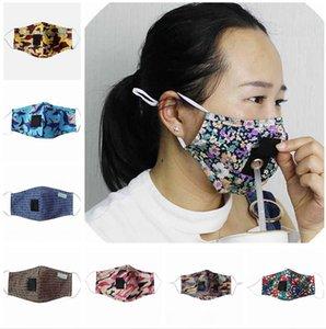 Camuflagem Beber Boca Mask lavável reutilizável Straw Windproof Anti-fog gancho Máscaras ajustáveis Dustproof cobrir a boca LJJP183