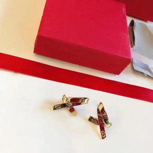 C1455 Fashionable bowknot ear stud simple and advanced feeling earring men and women with the same style punk jewelry