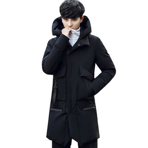 Acacia Person Newest Men's Winter Warm Jacket Solid Overcoat Hooded Thick Coats Outwear Clothes Male Parkas Fashion Top