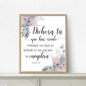 Canvas Painting Wall Posters and Prints English Bible Proverbs Quote HD Wall Art Pictures For Living Room Dining Restaurant Hotel Home Decor