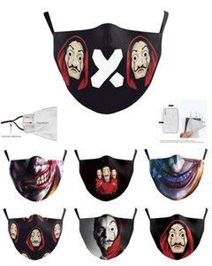 Meltblown 3D Digital Gesicht Mundmaske 5 Schichten Schutz PM2.5 Mode Luxus sichere Erwachsene Maske Adjustable Earhook