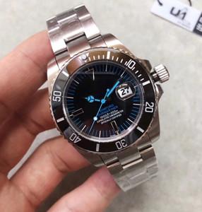U1 FÁBRICA Bamford 116610 automático de la fecha auto Relojes para hombre azul manos y los marcadores asombrosos de cerámica Bisel reloj de pulsera de zafiro