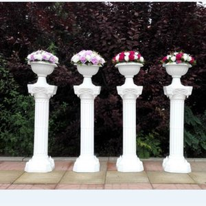 2pcs lot Fashion Wedding Decoration Props Artificial Hollow Roman Columns White Color Plastic Pillars Road Cited mermaid Party Event