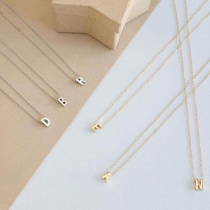 Silver Gold Color 26 Initial Letter Choker Necklace For Women Personalized Pendant Necklace Summer Jewelry Accessories