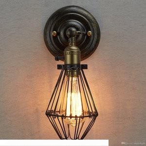Edison Vintage Wall Light Chandeliers Rustic Wire Cage Hanging Wall Light Industrial Cage Light bedroom corridor wall lamps