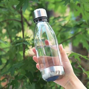 Fedex 350мл 500мл колы пластиковые бутылки питьевой воды бутылка портативный прозрачный ясно с ручкой для переноски