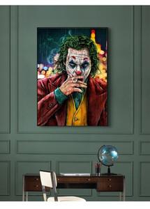 Classica The Joker Movie Poster Canvas Joaquin Phoenix Stelle Poster Stampe Wall Art pittura immagini per Living Room decorazione domestica