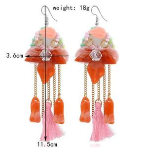 Fashion Long Tassel Earrings Bohemian Bead Rhinestone Shell Flower Sequins Earring Ethnic Boho Dangle Drop Earings For Women jewelry Gifts