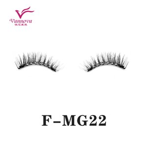Magnetic 3D False eyelashes 2Pieces magnet high quality, waterproof natural appearance, strong and soft for ladies make-up F-MG22
