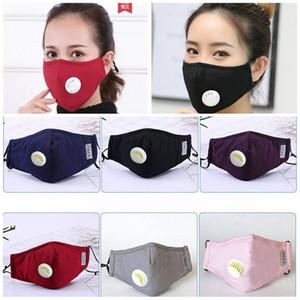 Proteção Adulto Trendy Respirador com válvulas Código Uniforme macia Boca Máscaras Anti Saliva Poluição do Ar Fa