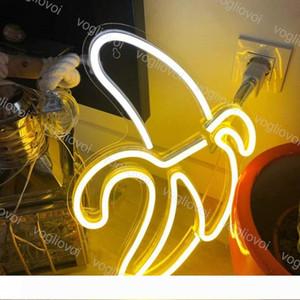 Led Neon Sign SMD2835 interior Noite luz Modelo de Design Banana Com Xmas Partido Transparente Backplane casamento do feriado Tabela Lâmpadas DHL