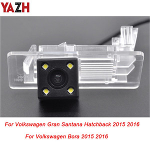 YAZH For Volkswagen VW Bora Gran Santana Hatchback 2015 Auto GPS Radio HD CCD Car Reverse Backup Camera Parking Rear View Camera