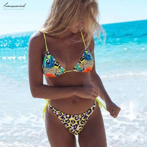 Sexy Solid Bikinis Women Bathing Suits Summer Ladies Fashion Beach Wear Floral Leopard Swimsuit For Pool Party Biquinis Set Backless