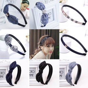 Korean fabric hairpin toothed hairband Japanese and Korean sweet hair pressing thin edge anti-skid headband butterfly hair belt head