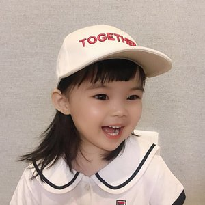 2020 new girls' hat autumn 1-2-3 years old children's girls' baby letter Sunscreen baseball baseball cap sun protection cap