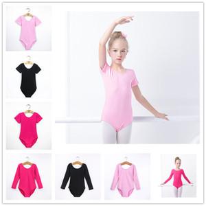 Childern 라틴 발레 댄스 바디 수트 어린이 체조 레오타드 짧은 또는 긴 소매 어린이 댄스 의상 의상 아동 운동 의류