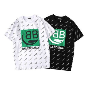 Balenciaga 2020 Hot sale Fashion brand BB short sleeve 19 summer new cartoon T-shirt green black men's and women's cotton loose top