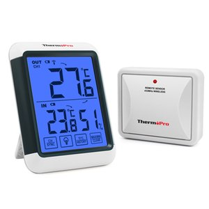 ThermoPro TP65S 60M Wireless Digital Hygrometer Outdoor Temperature Humidity Monitor Black light touch screen Weather Station