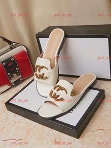 Gucci Shoes высокого качества женщин G сандалии конструктора причинные обувь: люкс Slide Летняя мода женщина плоские сандалии тапочки флип-флоп